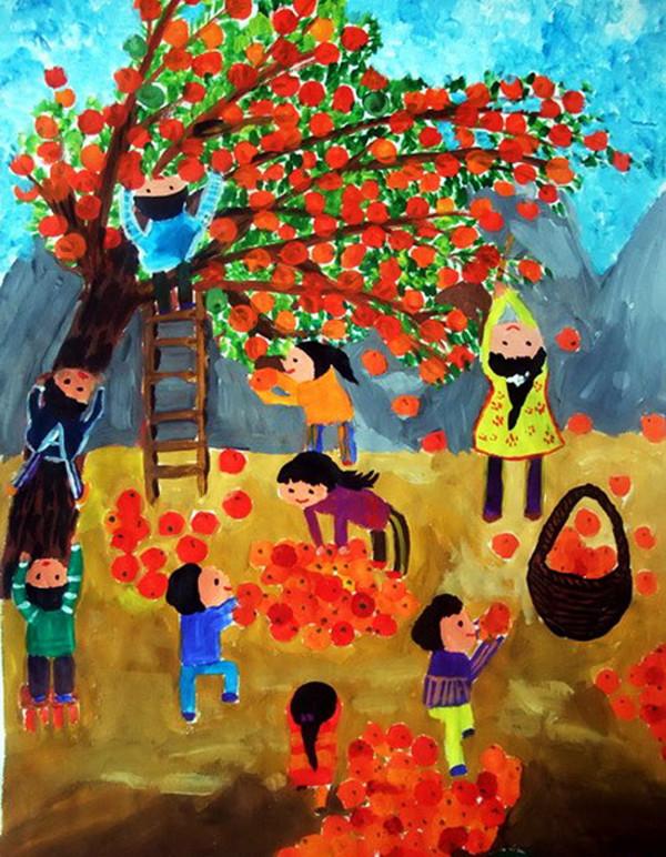 幼儿园春夏秋冬画画
